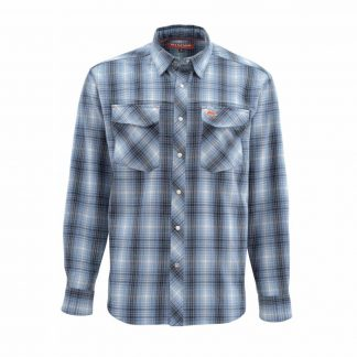 Simms Gallatin Flannel LS Shirt Dark Moon Plaid