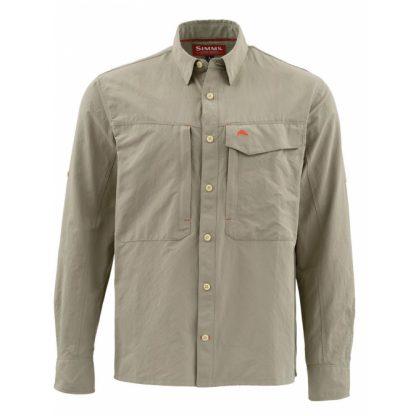 Simms Guide LS Shirt Solid Dark Kahki