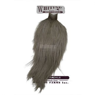 Whiting Bronze Spey Hackle Cape White Dyed Medium Dun