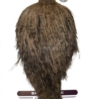 Whiting Bronze Spey Hackle Cape Grizzly Dyed Tan