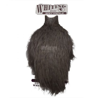 Whiting Spey Hackle Hen Cape White Dyed Dark Dun