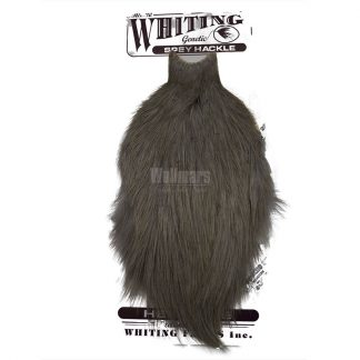 Whiting Spey Hackle Hen Cape White Dyed Medium Dun