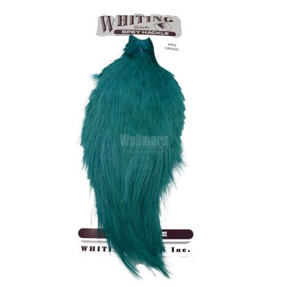 Whiting Spey Pro Grade Cape White Dyed Teal